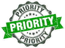 Priority stamp Royalty Free Stock Photography