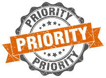 Priority stamp Stock Photography