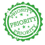 Priority stamp vector Stock Photos