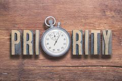 Priority watch wooden Royalty Free Stock Photos