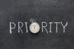 Priority word Royalty Free Stock Photo