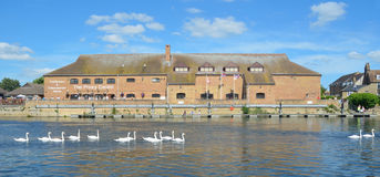 The Priory Centre on the river Ouse at St Neots Stock Photo
