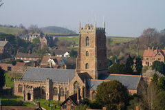 Dunster Church Somerset England Stock Images