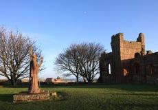 Priory de Lindisfarne Image libre de droits