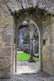 Priory di Portumna di rovine fotografie stock libere da diritti