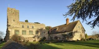 Priory Farmhouse & Priory Church of Saint Mary Royalty Free Stock Photos