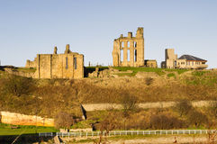 priory grodowy tynemouth fotografia stock