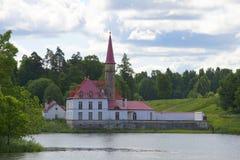 Priory Palace cloudy july day. Gatchina, Leningrad region Stock Image