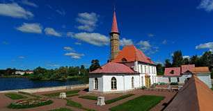 Priory Palace. Gatchina. Russia. Priory Palace Priory is situated in the south-eastern shore of the Black Lake. Built in 1799 for Paul I Royalty Free Stock Image