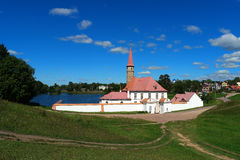 Priory Palace. Gatchina. Russia. Priory Palace Priory is situated in the south-eastern shore of the Black Lake. Built in 1799 for Paul I Stock Image