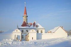 Priory Palace january day. Gatchina, Russia. Priory Palace january day. Gatchina, Leningrad region, Russia Royalty Free Stock Image