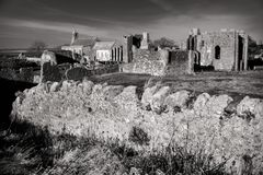 Priory ruins on Lindisfarne on Holy Island in Northumberland Stock Images