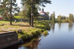 Priosersk La Russia Korela da Vuoksa Fotografia Stock