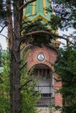 Priozersk, Rusland, 14 Augustus, 2016: Al Samenstelling van Heiligenpriozerskoe Royalty-vrije Stock Fotografie