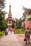 Priozersk, Rusland, 14 Augustus, 2016: Al Samenstelling van Heiligenpriozerskoe Stock Afbeelding