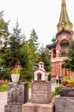 Priozersk, Rusland, 14 Augustus, 2016: Al Samenstelling van Heiligenpriozerskoe Stock Afbeeldingen