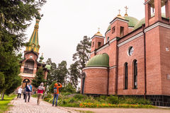 Priozersk, Russia, August 14, 2016: All Saints Priozerskoe Compound Royalty Free Stock Photography