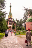 Priozersk, Russia, August 14, 2016: All Saints Priozerskoe Compound Stock Image