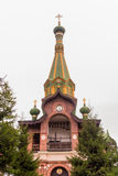 Priozersk, Russia, August 14, 2016: All Saints Priozerskoe Compound Royalty Free Stock Photo