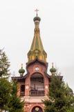 Priozersk, Russland, am 14. August 2016: Alles Heilige Priozerskoe-Mittel Lizenzfreies Stockfoto