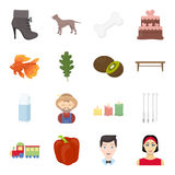 Pripod, celebration, business and other web icon in cartoon style.girl, hoop, rest icons in set collection. Stock Images