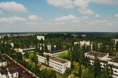 Pripyat在切尔诺贝利区域 免版税库存照片