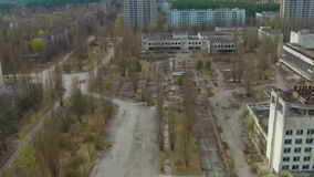 Pripyat – ghost town near Chernobyl. Prypiat, Ukraine. Town is located within the Chernobyl disaster zone. Pripyat was ground zero for the worst nuclear stock video footage