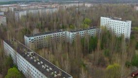 Pripyat —spökstad nära Tjernobyl arkivfilmer