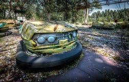 Pripyat-Autoskooters Lizenzfreie Stockfotos