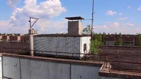 Pripyat en sikt av sarkofaget stock video