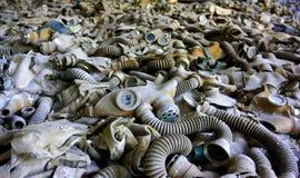Pripyat-Gasmasken Stockfotos