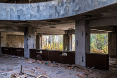 Pripyat-Geisterstadt in der Ukraine Stockfotografie