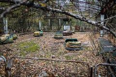 Pripyat-Geisterstadt in der Ukraine Stockfotos