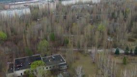 Pripyat – ghost town near Chernobyl stock footage