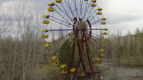Pripyat – ghost town near Chernobyl stock video footage