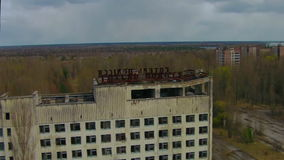 Pripyat – ghost town near Chernobyl stock video footage