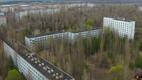 Pripyat – ghost town near Chernobyl stock footage