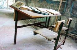 Pripyat klassrum Arkivfoto