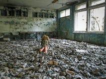Pripyat na zona de exclusão de Chernobyl, Ucrânia, 2016 Fotos de Stock