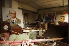 Pripyat. Ritratti delle guide sovietiche. Fotografia Stock Libera da Diritti