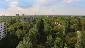 Pripyat Rue de Kurchatov 2 banque de vidéos