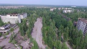 Pripyat spökstad stock video