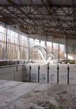 Pripyat Swimming Pool. An abandoned swimming pool in Pri'pyat City, inside the 10 km zone of the Chernobyl Region, Ukraine Stock Image