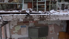 Pripyat Ulitsa Druzhby narodov Skola 1 copter Vinter lager videofilmer