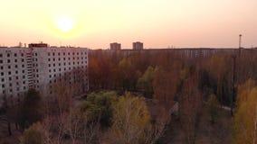 Pripyt在切尔诺贝利核电站附近的 股票视频
