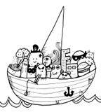 Prirates congestionó en nave stock de ilustración