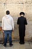 Prière juive d'hommes Photographie stock libre de droits