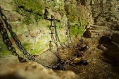 Prisão do Dungeon do castelo fotografia de stock royalty free