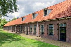 Prisão holandesa anterior das casas O acampamento é agora um museu imagem de stock royalty free