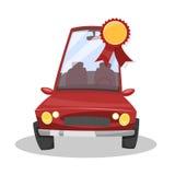 Pris för den bästa bilen stock illustrationer
